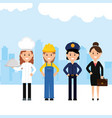 group professionals workers vector image vector image