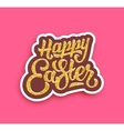 Happy Easter lettering with gold glittering vector image vector image