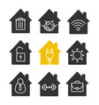 houses glyph icon set vector image