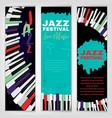 jazz poster set vector image