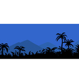 landscape night in the tropics vector image