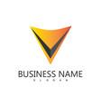 letter v business logo vector image