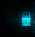 lock abstract blue futuristic english code vector image vector image