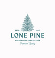 lone pine abstract sign symbol or logo vector image