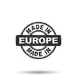 made in europe stamp on white background vector image vector image