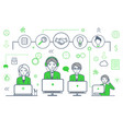 male and smart team icons set and people vector image