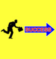 man to success vector image
