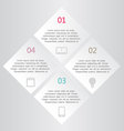 Modern infographics white square design template vector image