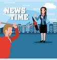 news time cartoons vector image vector image