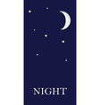 Night concept vector image