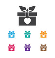 of amour symbol on gift icon vector image