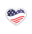 old glory heart shaped figure vector image vector image
