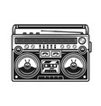 old style music boombox black vector image vector image