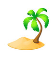palm tree island isolated on white vector image