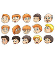 Peoples heads vector image vector image