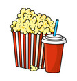 pop corn and soda vector image