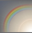 rainbow on a transparent vector image vector image