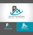 real estate house robuilding icon vector image