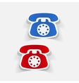 realistic design element telephone vector image