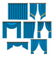 realistic detailed 3d window curtains set vector image