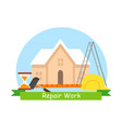 repair work business flat banner concept vector image vector image