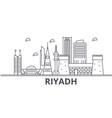 riyadh architecture line skyline vector image vector image