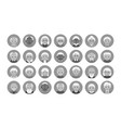 set avatars old people in gray and white color vector image vector image