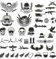 Set of military labels badges emblems and design vector image