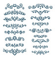 set vintage decorative elements vector image vector image