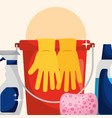 spring cleaning concept vector image vector image