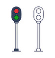 traffic light railway stock icon element train vector image vector image