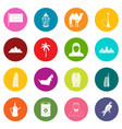 uae travel icons many colors set vector image vector image