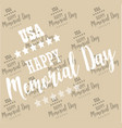 usa memorial day pattern background vector image