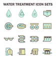 Water treatment tank vector image vector image