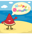 Watermelon Happy Summer on Beach vector image
