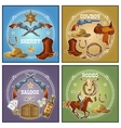 Wild West Compositions vector image vector image