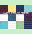 set of 12 seamless patterns with easter eggs vector image