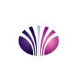 beauty abstract line unusual logo vector image