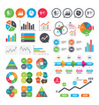 diagram graph pie chart presentation billboard vector image
