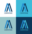Logo blue color mix vector image