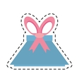 blue gift box present line dotted vector image