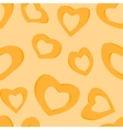 3D Golden hearts Seamless background vector image vector image