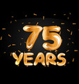75 years golden anniversary celebration vector image