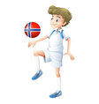 a ball with flag norway played the vector image