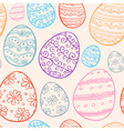 Abstract Easter seamless pattern vector image