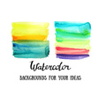 Abstract watercolor art hand paint isolated on vector image vector image