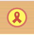 AIDS color flat icon vector image