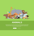 animals banner website template vector image vector image