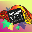 autumn discounts background with leaves vector image vector image