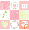 Baby cards set cute design with patterns vector image vector image